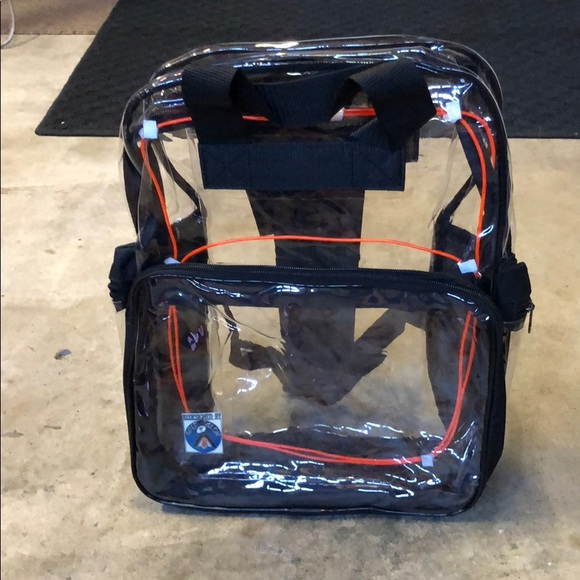 Light upRed LED clear Backpack